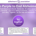 Go Purple for Alzheimer's!